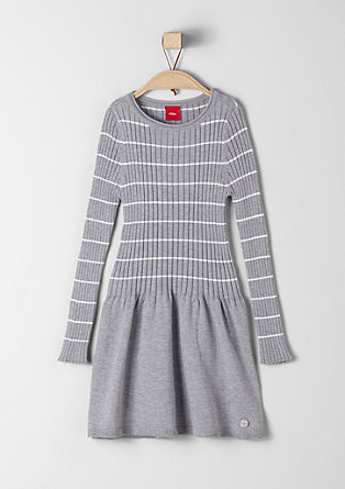 Knit dress with rib detail from s.Oliver