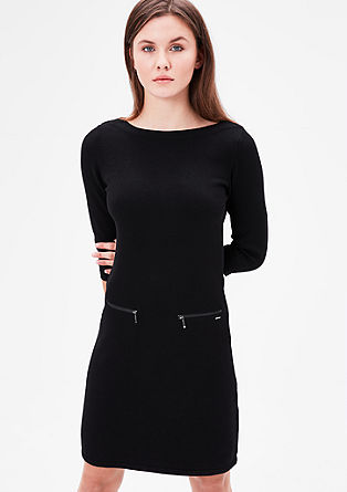 Knit dress with zip details from s.Oliver