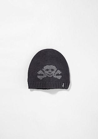 Knit hat with a pirate motif from s.Oliver