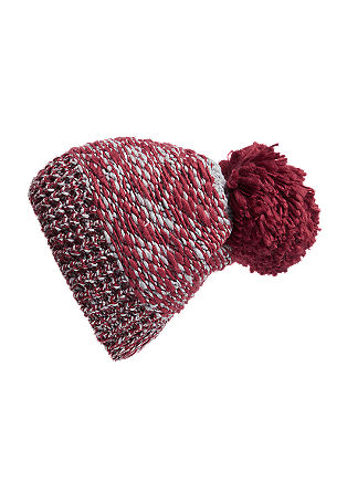 Knit hat with an extra-large pompom from s.Oliver