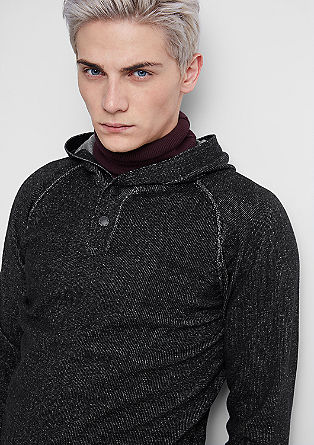 Knit hoodie from s.Oliver