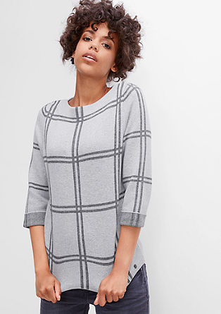 Knit jumper in a boxy style from s.Oliver
