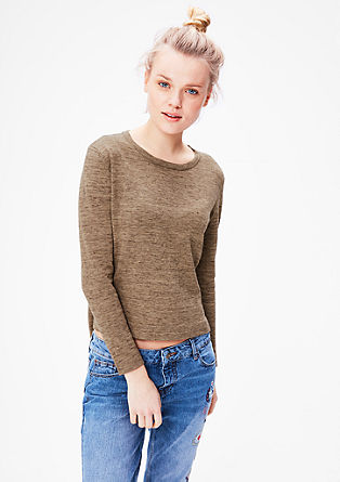 Knit jumper in a melange look from s.Oliver