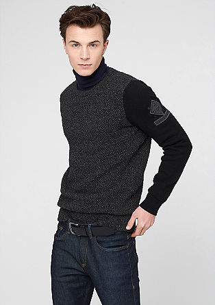Knit jumper in a mix of textures from s.Oliver