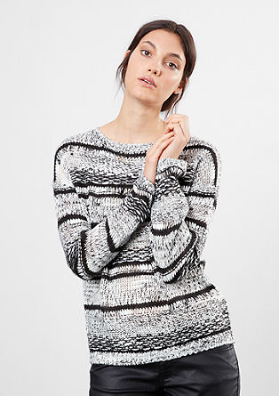 Knit jumper in a striped design from s.Oliver
