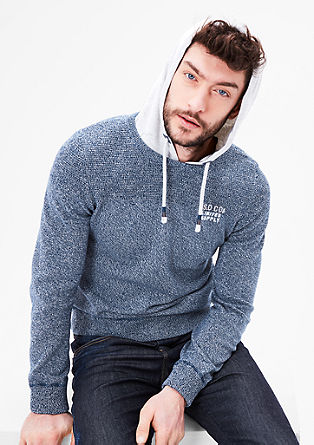 Knit jumper with a hood from s.Oliver