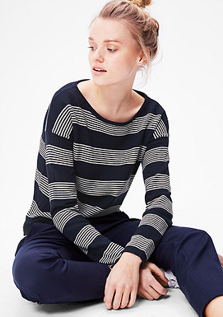 Knit jumper with a striped pattern from s.Oliver