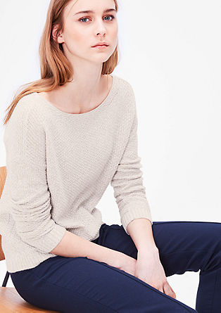 Knit jumper with a textured pattern from s.Oliver