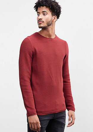 Knit jumper with curled hems from s.Oliver