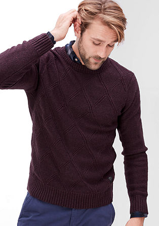 Knit jumper with diamond pattern from s.Oliver