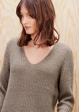 Knit jumper with mohair from s.Oliver