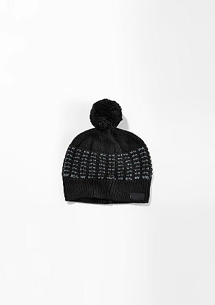 Knit pompom hat from s.Oliver
