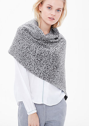 Knit poncho with polka dots from s.Oliver