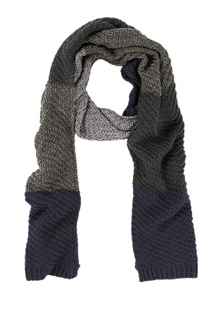 Knit scarf in a colour block design from s.Oliver