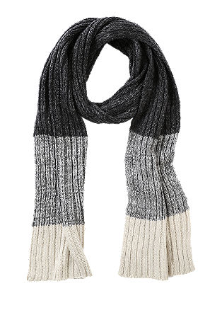 Knit scarf with a ribbed texture from s.Oliver