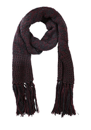Knit scarf with fringing from s.Oliver