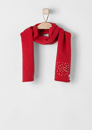 Knit scarf with rhinestones from s.Oliver