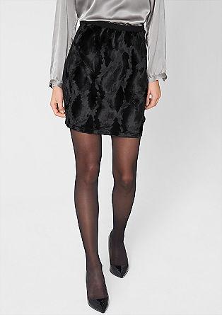 Knit skirt + imitation pony skin from s.Oliver