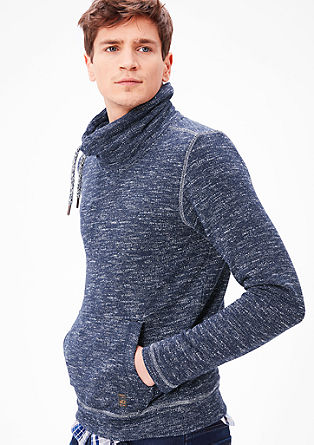 Knit sweatshirt with a turtleneck from s.Oliver