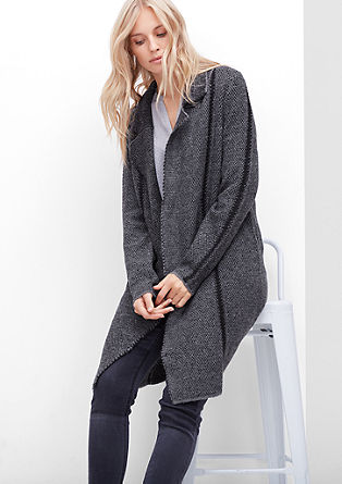 Knitted coat with alpaca wool from s.Oliver