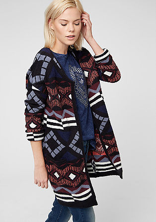 Knitted coat with an ikat pattern from s.Oliver