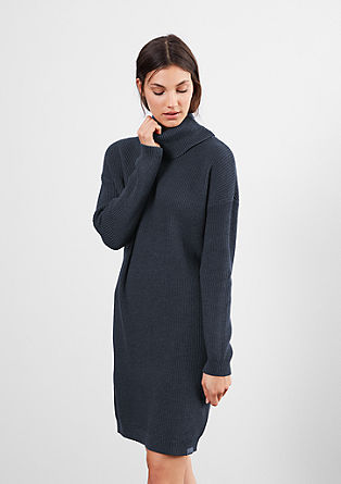 Knitted dress with a large polo neck from s.Oliver