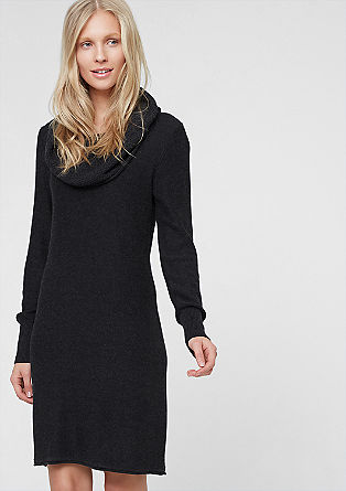 Knitted dress with a shawl collar from s.Oliver