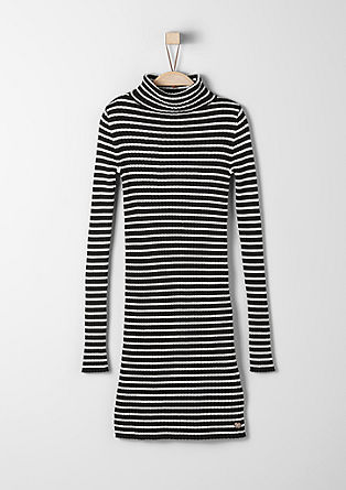 Knitted dress with stripes from s.Oliver