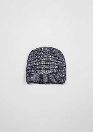 Knitted hat with a mottled effect  from s.Oliver