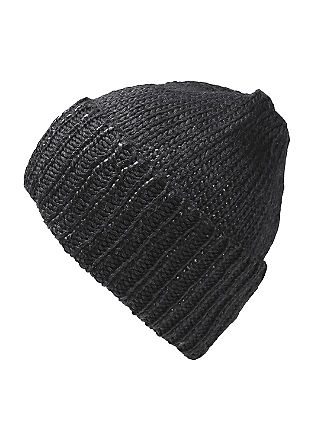 Knitted hat with a shiny finish from s.Oliver