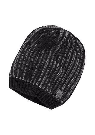 Knitted hat with stripes from s.Oliver