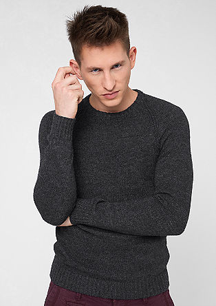 Knitted jumper in a wool look from s.Oliver