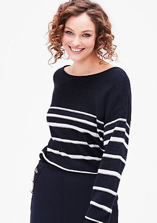 Knitted jumper in blended linen from s.Oliver
