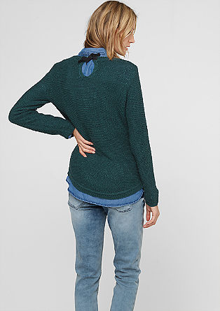 Knitted jumper in ribbon yarn from s.Oliver