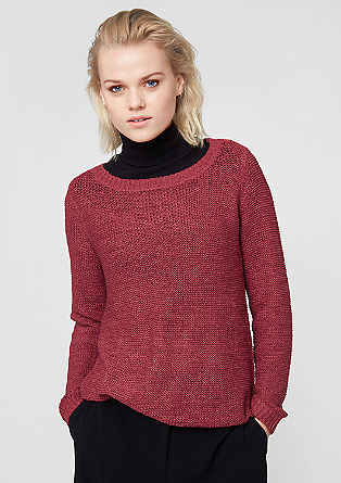 Knitted jumper made from ribbon yarn from s.Oliver