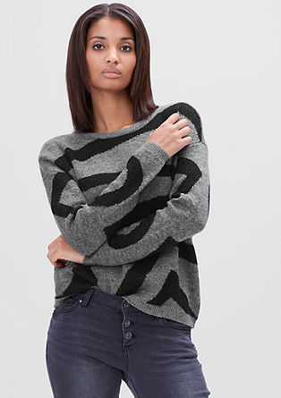 Knitted jumper with a fantasy pattern from s.Oliver