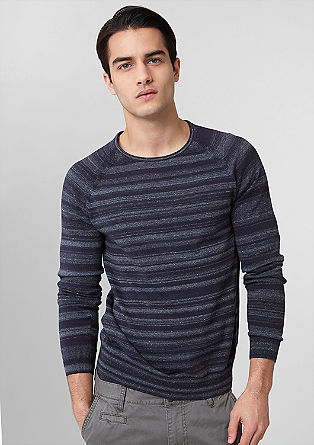 Knitted jumper with a mottled effect from s.Oliver