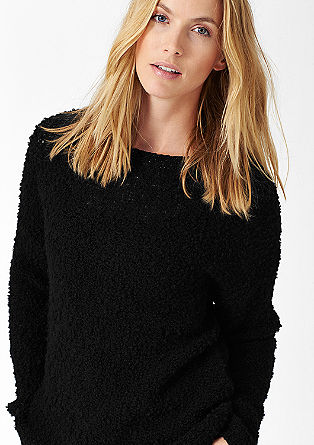 Knitted jumper with a percentage of wool from s.Oliver