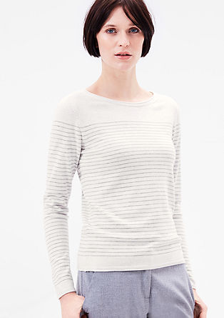Knitted jumper with a striped pattern from s.Oliver