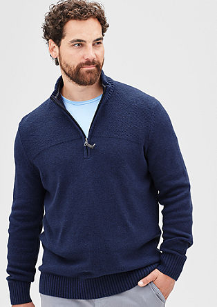 Knitted jumper with a zip from s.Oliver