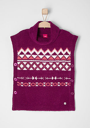 Knitted jumper with an ikat pattern from s.Oliver