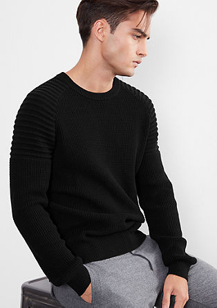 Knitted jumper with raglan sleeves from s.Oliver