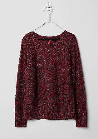 Knitted jumper with silver Lurex from s.Oliver
