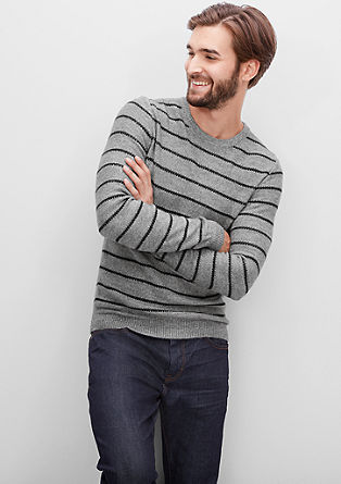 Knitted jumper with stripes from s.Oliver