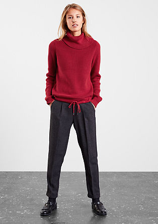 Knitted polo neck jumper from s.Oliver