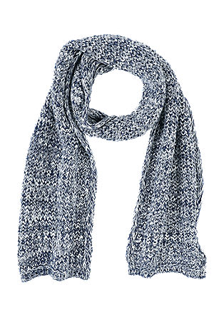 Knitted scarf in blended cotton from s.Oliver