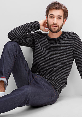 Knitted striped jumper from s.Oliver