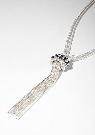 Knoten-Kette mit Glasperlen