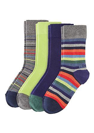Komplet 4 parov barvnih nogavic