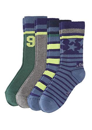 Komplet 4 parov športnih nogavic